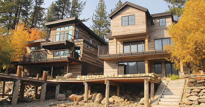 photo of 2 lake houses
